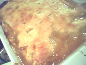 Rustic Peach Cobbler is very quick and easy