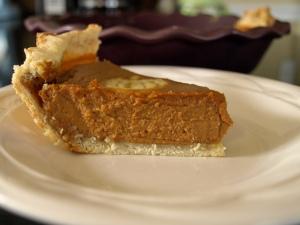 dairy-free pumpkin pie.